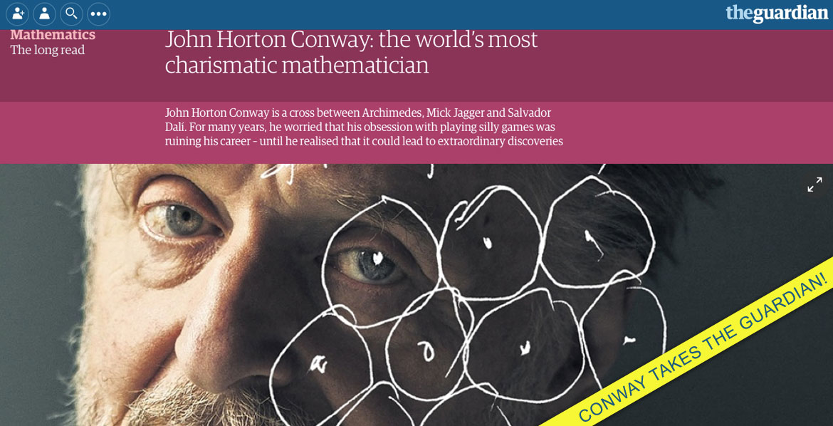 Conway takes the Guardian!